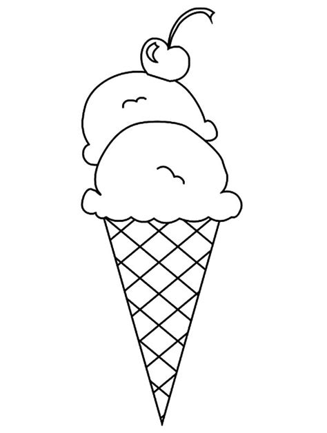 drawn waffle cone colouring page pencil   color