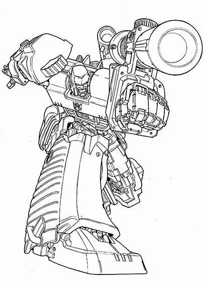 Megatron Coloring Pages Amazing Transformers Bazooka Aphmau