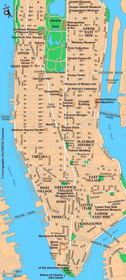 Carte New York  Plan New York Routardcom