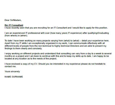 consultant cover letter  icoverorguk