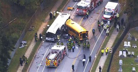 dead  commuter school bus crash  baltimore