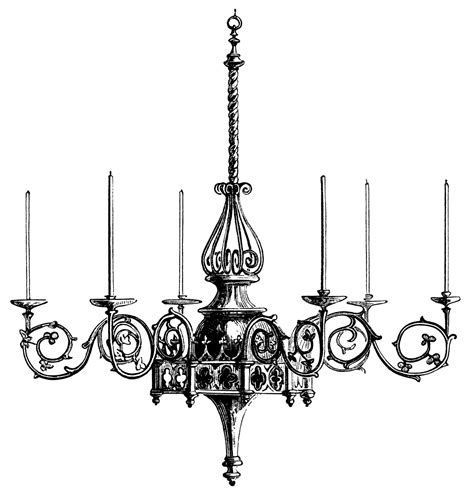 Black White Chandelier by Chandelier Illustration Black And White