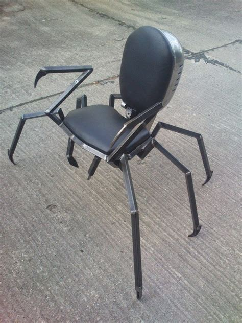 madhouse customs spider chair funky home decor steel