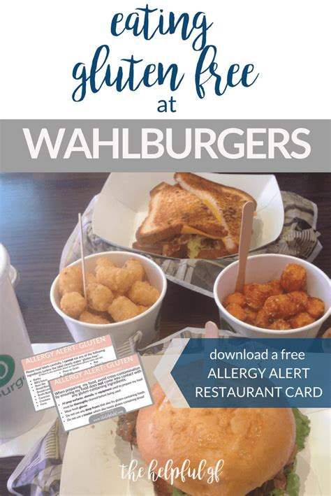 wahlburgers gluten restaurant