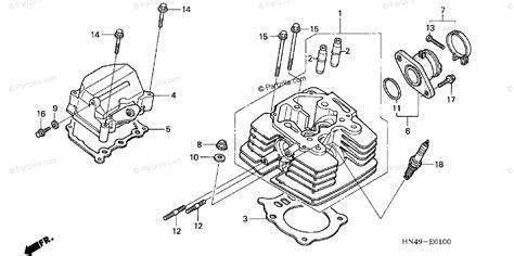Honda Atv Oem Parts Diagram For Cylinder Head