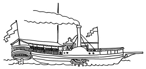 How To Draw A Keelboat by Drawn Sailboat Steamboat Pencil And In Color Drawn