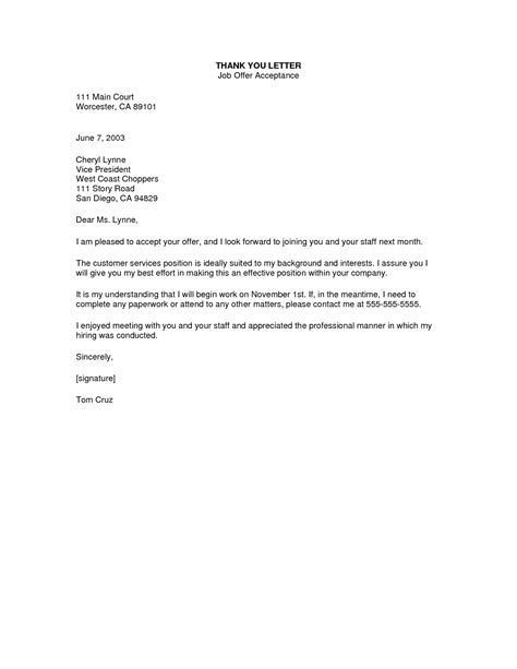 accept offer letter 10 how to write a job acceptance letter