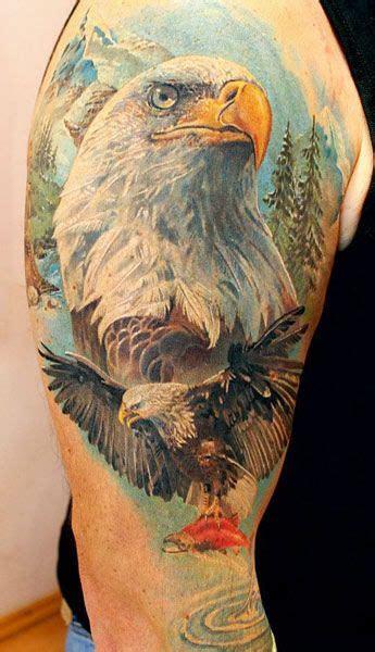 eagle tattoo  alexander pashkov tattoo artists eagle tattoos tattoos gallery  bald eagle