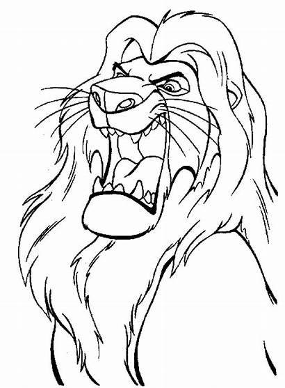 Lion King Coloring Pages Sheet Printable Leon