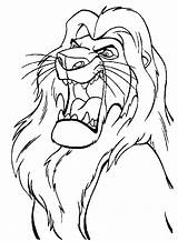 Lion King Coloring Pages Sheet Printable Leon Bravo Roi sketch template