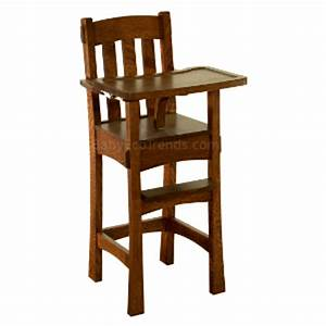 Amish High Chair - Arts & Crafts : USA Made Eco Friendly
