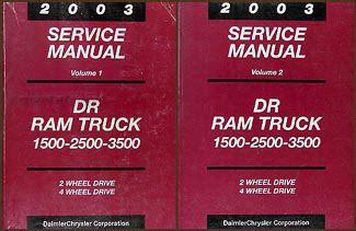 online car repair manuals free 2003 dodge ram 1500 spare parts catalogs 2003 dodge ram 1500 3500 truck repair shop manual original 2 volume set