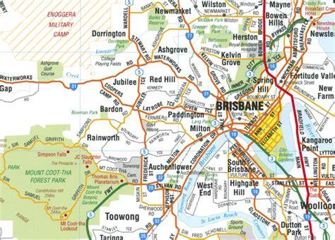 brisbane map  suburbs