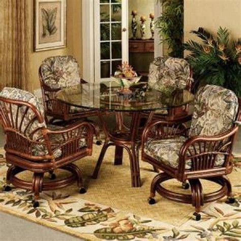 rattan dinette sets with caster chairs 71 best sun room images on sun room rattan