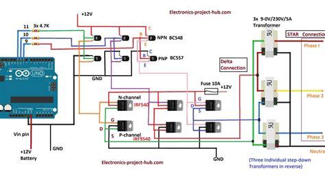 Three Phase Inverter Circuit Diagram Diy Electronics