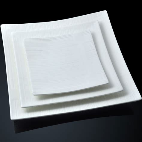 Viereckige Teller by Thick Ceramic Square Plate Of White Square Plate