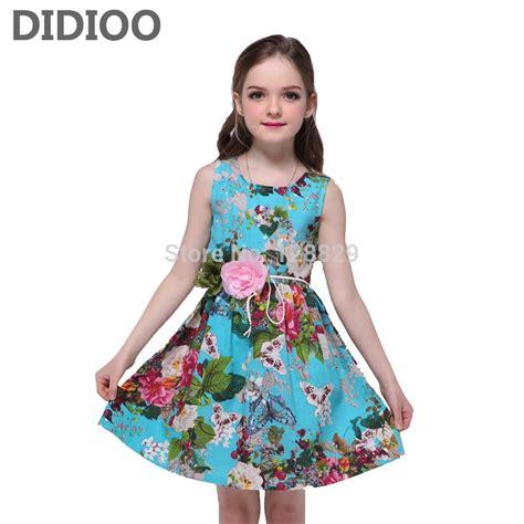 Kids Dresses For Girls Sundress Sleeveless Floral Print