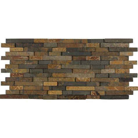 home depot mosaic tile ms international rustique interlocking 8 in x 18 in x 10