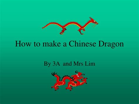 how to make a l ppt how to make a chinese dragon powerpoint presentation