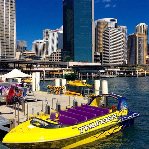 Jet Boat Circular Quay by Thunder Jet Boat On Sydney Harbour Sydney