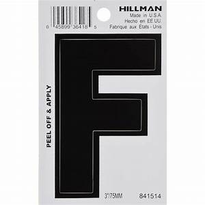Shop hillman 3 in black house letter f at lowescom for House letters lowes