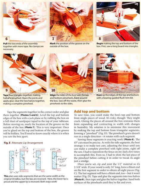 octagonal box plans woodarchivist