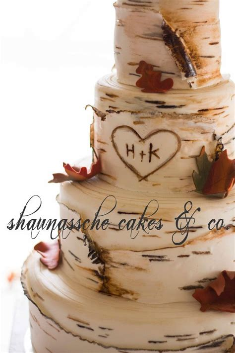 Shaunassche Cakes And Co Birch Tree Wedding Cake Would Be