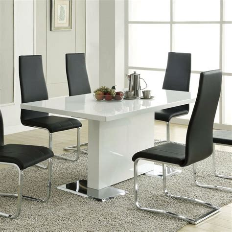 Contemporary Kitchen Furniture by White Dining Room Table Modern Kitchen Furniture Dinette