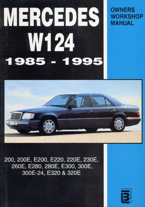 best car repair manuals 1985 mercedes benz s class user handbook front cover mercedes benz repair manual mercedes owner s workshop manual w124 1985 1995
