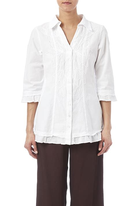 fitted blouses gretty zueger embroidered fitted blouse from florida by
