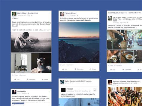 Facebook Ios App News Feed Sketch Freebie