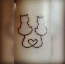 Cat Heart Tattoo