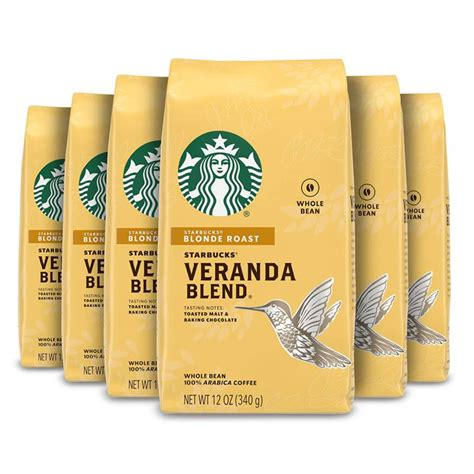 At every step, we go to great lengths to make sure our beans meet the highest standard of quality. Starbucks Blonde Roast Whole Bean Coffee — Veranda Blend — 100% Arabica —   eBay
