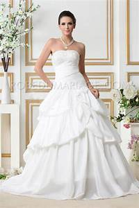 robe de mariee classique bustier froncee fleur taffetas With robe de mariée classique