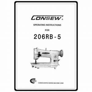 Instruction Manual  Consew 206rb