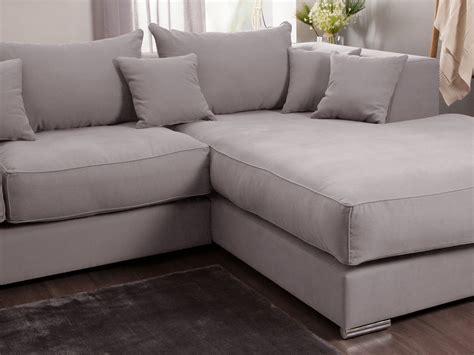 canap d angle cocooning canapé d 39 angle en coton et avec grande méridienne
