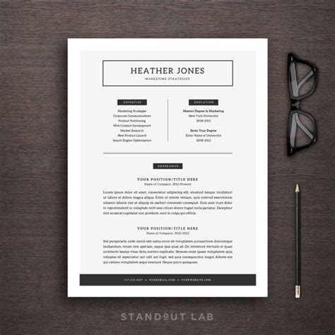 Easy Way To Make A Resume by Resume Template And Cover Letter Template By Standoutlab