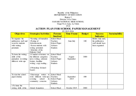 time to change action plan template action plan