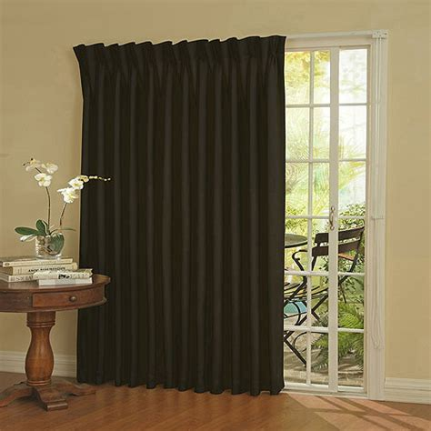 Blackout Curtains For Traverse Rod by Eclipse Thermal Blackout Patio Door Curtain Panel 100 Quot X
