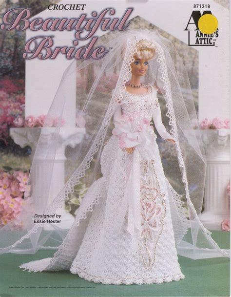 beautiful bridal gown  barbie  crochet pattern crochet kingdom