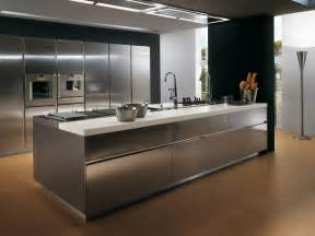 stainless steel kitchen island contemporary stainless steel kitchen cabinets elektra plain steel by ernestomeda digsdigs