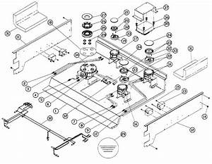Cooktop Diagram  U0026 Parts List For Model Er30dschlph Dacor