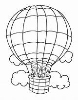Balloon Coloring Air Pages Balloons Printable Getcolorings Popular sketch template