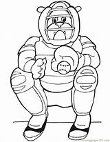 Baseball Catcher Coloring Dog Coloringpages101 sketch template