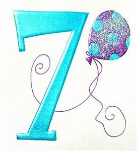 7th Birthday Cards Clipart