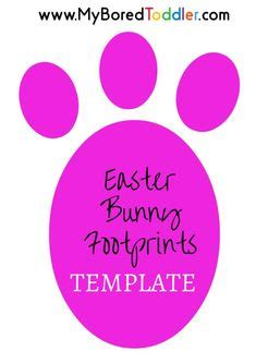 printable easter bunny paw prints template front   paws stencil footprint trail