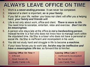 Always leave of... Office Leaves Quotes
