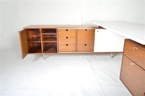 george nelson l george nelson for herman miller l shaped executive desk with return at 1stdibs