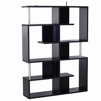 Standing Bookshelf Bookcase Tier Wood Shelves Shape
