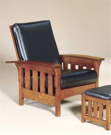 Amish Morris Chair Recliner by Bow Arm Slat Morris Chair Amish Direct Furniture